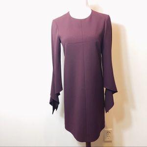 Tibi Burgundy Toni shift dress size 2